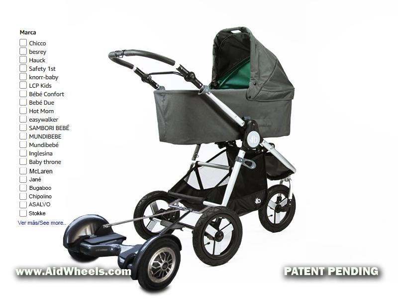 motor silla paseo bebe carritos bebes sillitas niños pequeños pasear aidwheels hoverpusher baby stroller power attachment