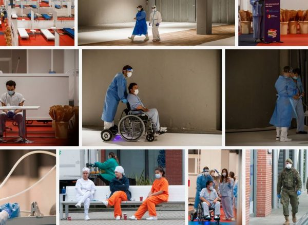 voluntarios sillas ruedas ifema madrid coronavirus