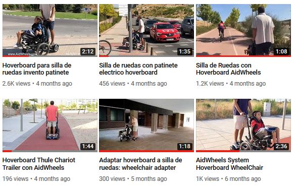 aidwheels wheelchair hoverboard videos
