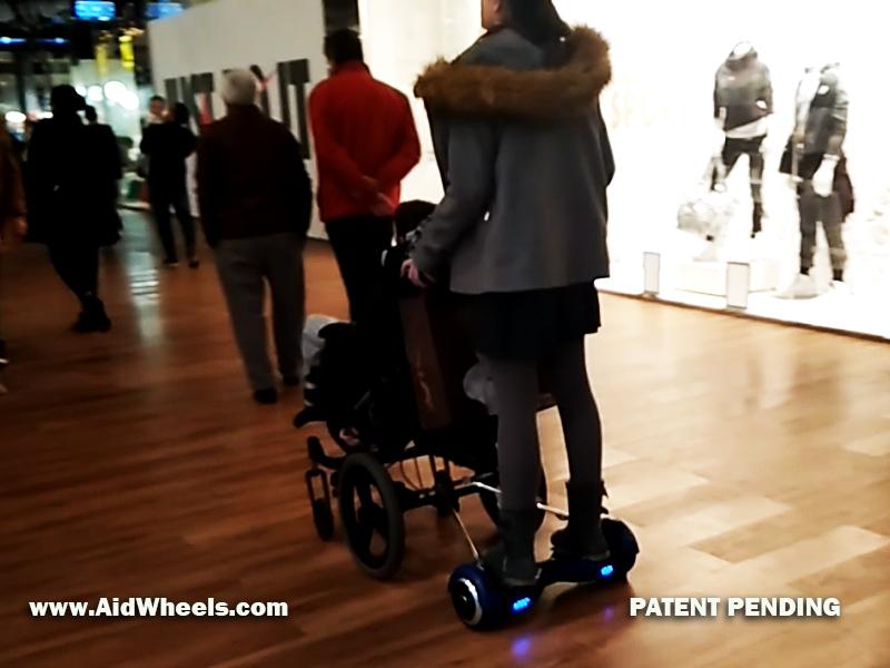 como instalar hoverboard en una silla de ruedas