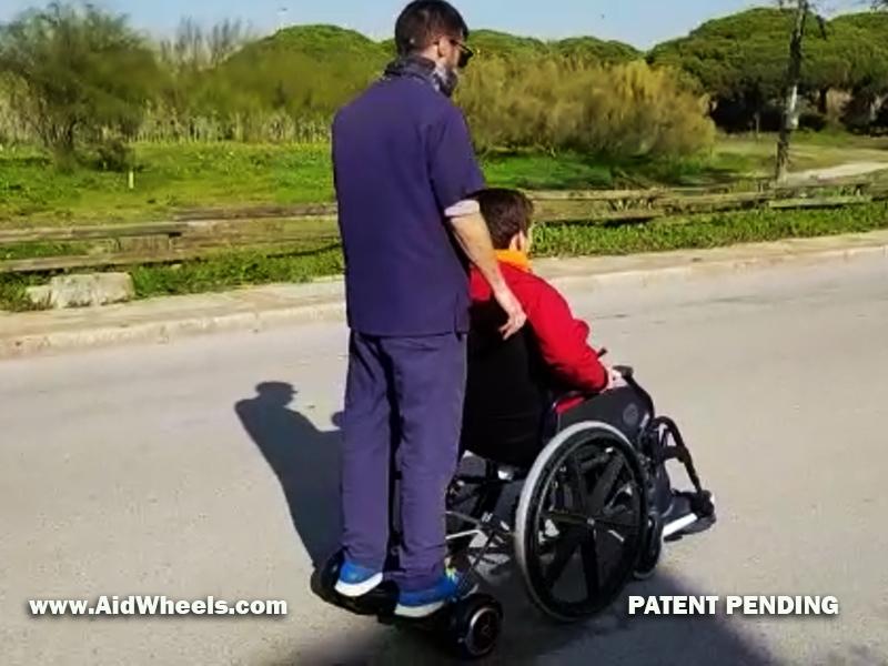 silla ruedas patinete