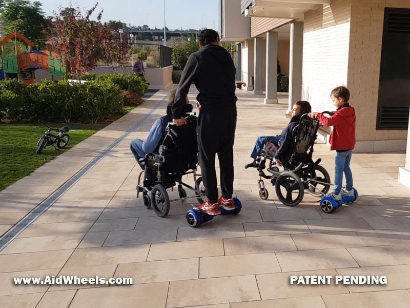 hoverpusher silla de ruedas