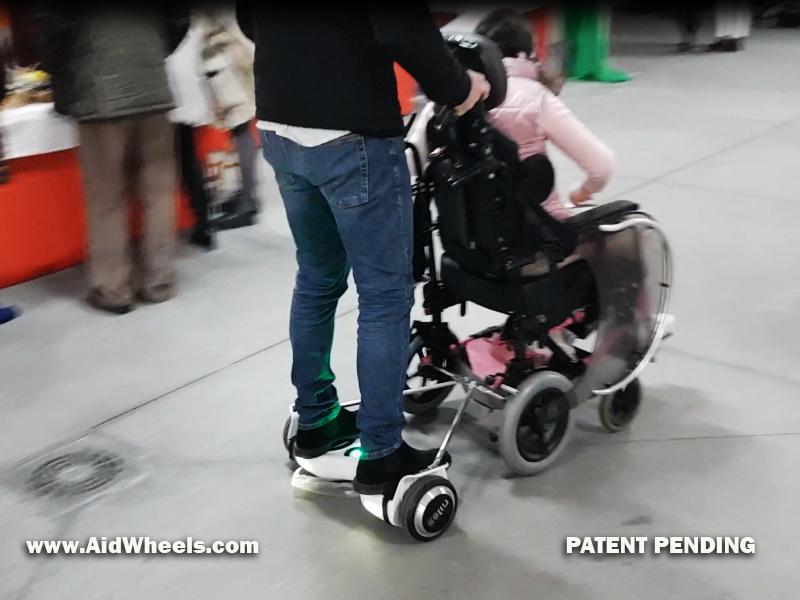 movilidad electrica silla de ruedas con hoverboard aidwheels