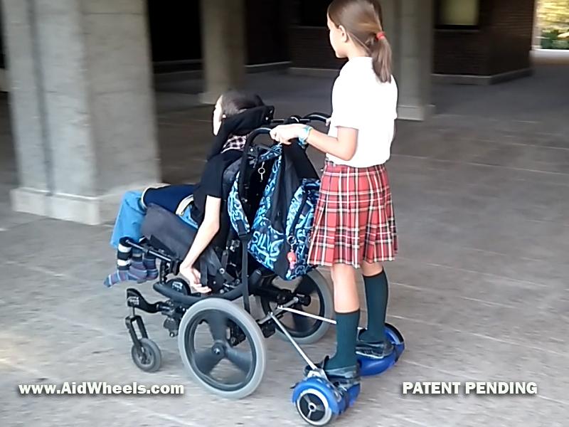 ortopedia silla de ruedas con hoverboard electrica motor