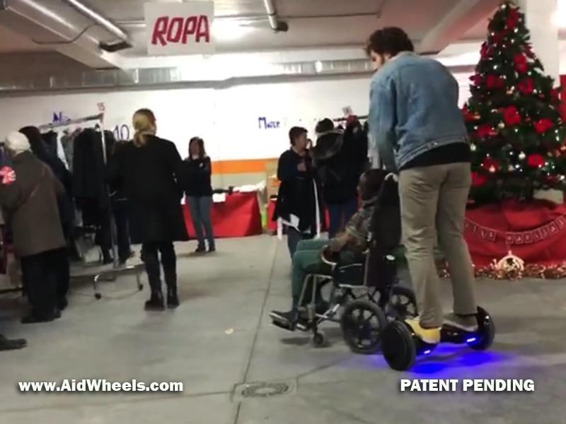 silla ruedas electrica paralisis cerebral con hoverboard