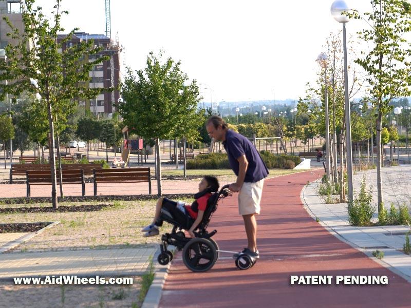 silla ruedas hoverboard para fundaciones paralisis cerebral