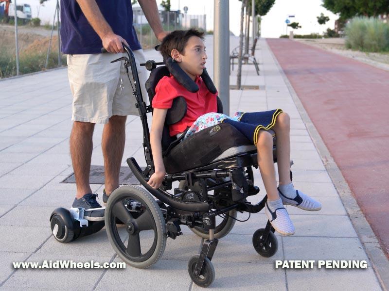 sillas de ruedas con hoverboard de aidwheels
