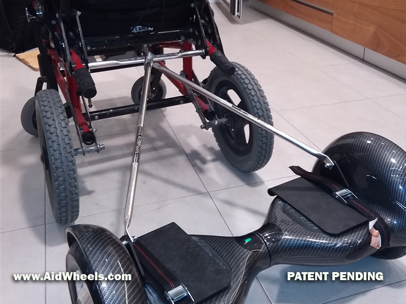 unir hoverboard y silla de ruedas