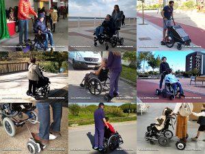 motor acompañante silla ruedas