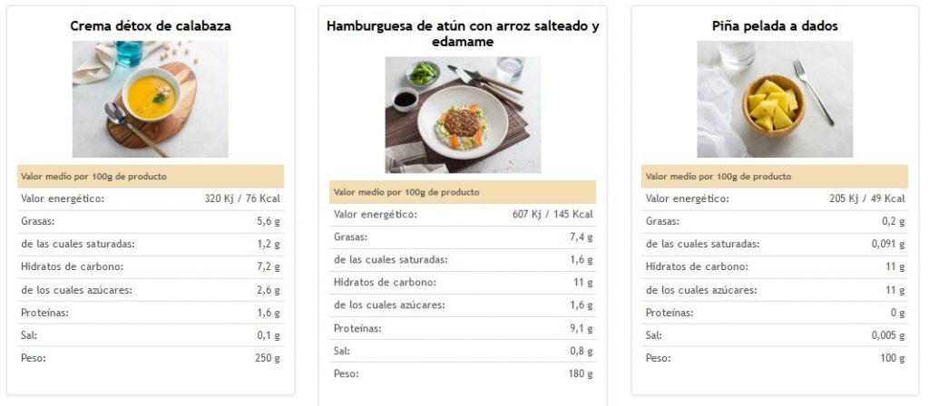 menu saludable empresas