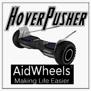 Motor ayuda paseo carrito bebe Duo Be Cool Pleat Top November HoverPusher AidWheels
