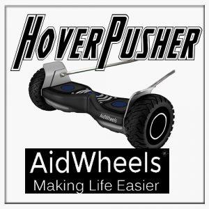 AidWheels HoverPusher para Silla de ruedas reclinable | Ruedas de 60 cm | Negro