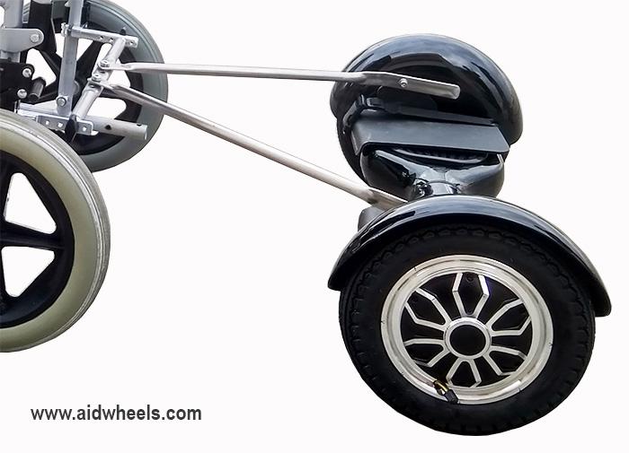 adaptacion patinete electrico hoverboard aidwheels