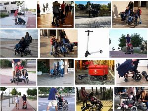 silla ruedas con hoverboards