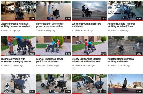 Motor electrico silla de bebe Fenfen HoverPusher AidWheels