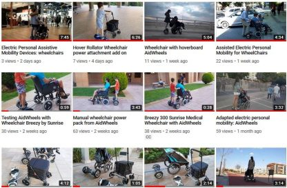 Motor acompañante silla de bebe BeBe-mobile HoverPusher AidWheels