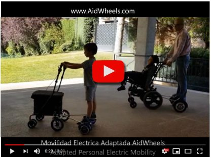 Ayuda electrica paseo carrito bebe Baby Jogger City Tour Lux granito HoverPusher AidWheels
