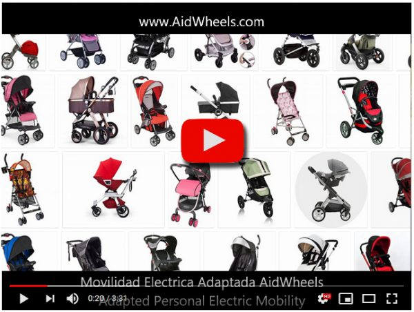Asistente electrico motor carrito bebe Bugaboo Fox HoverPusher AidWheels