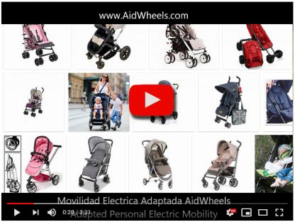 Motor electrico carrito bebes LJM HoverPusher AidWheels