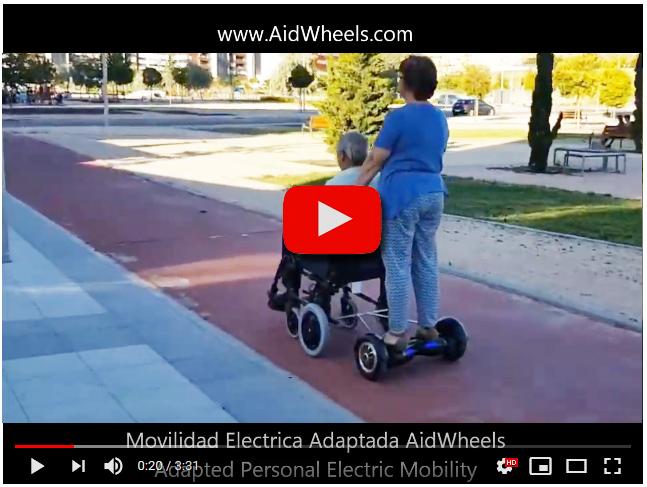 Motor de empuje para silla de ruedas
