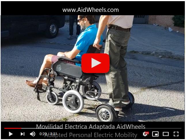 Silla de ruedas con motor electrico y direccion manual
