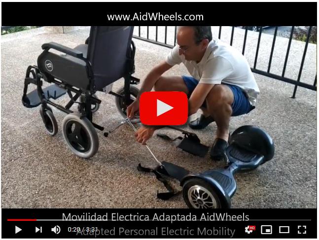 Motor de ayuda al acompañante silla de ruedas manual