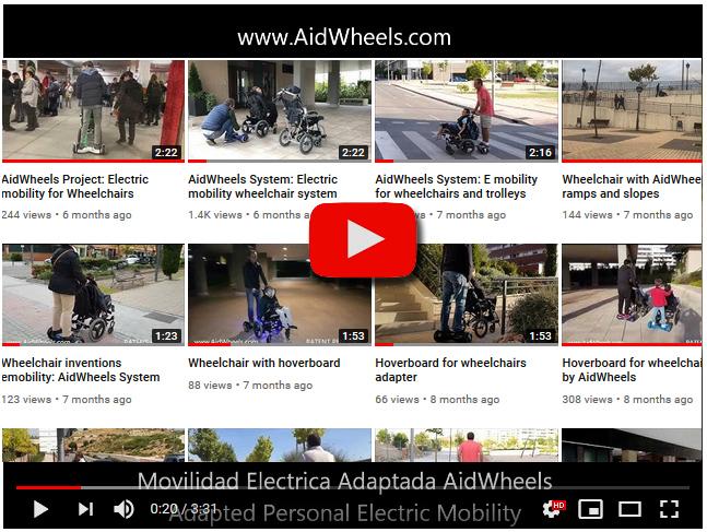 motor auxiliar silla de ruedas manuales videos