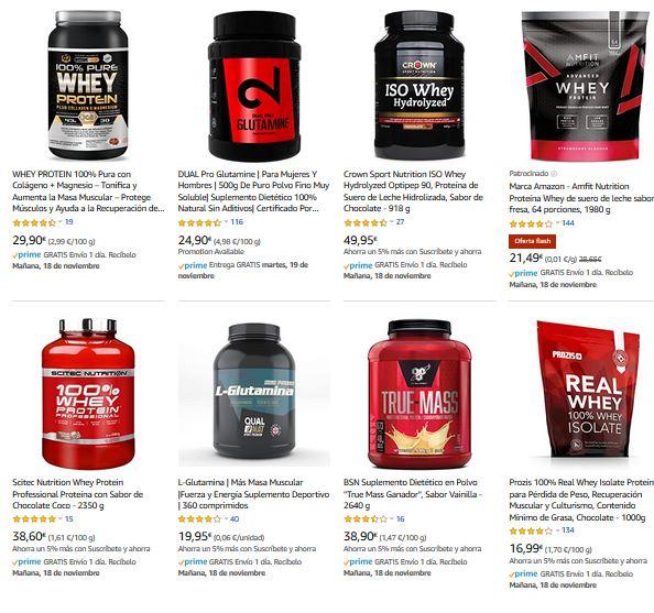 Mejores suplementos nutricionales para ganar masa muscular pack