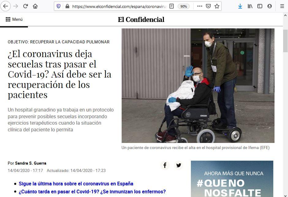IFEMA hospital sillas de ruedas
