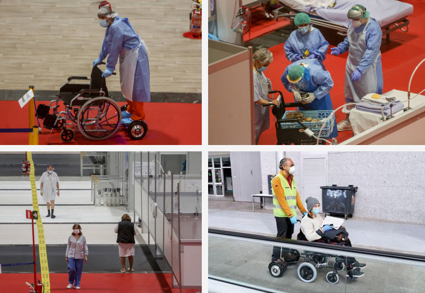 pacientes silla de ruedas electrica patinetes IFEMA