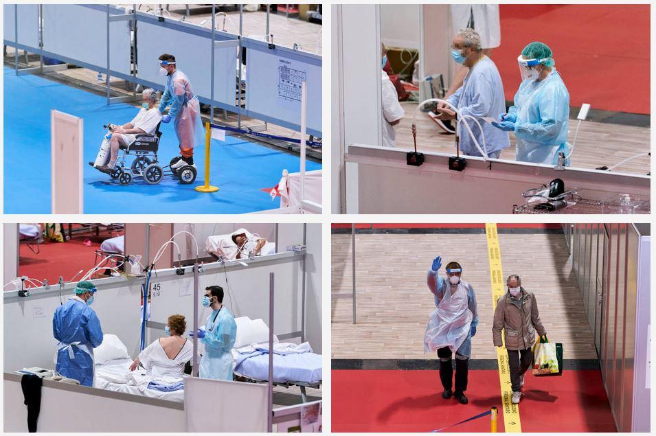 sillas de ruedas con patines electricos IFEMA madrid hospital
