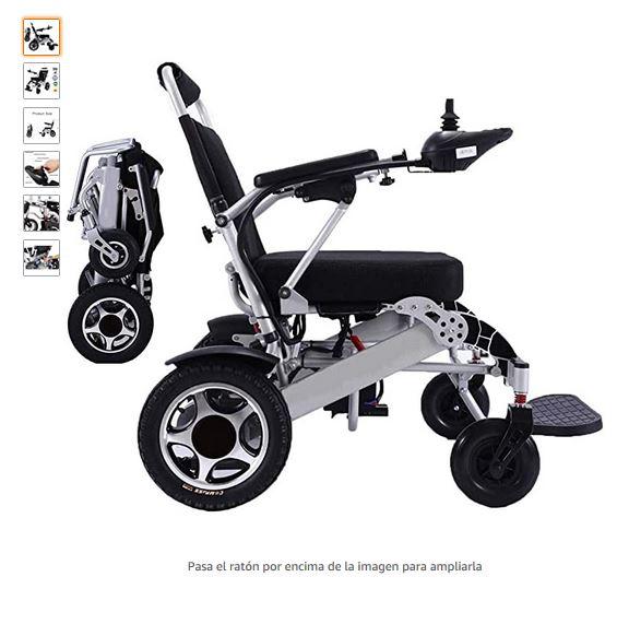 Silla de ruedas electrica plegable automatica