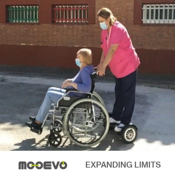 AidWheels by Mooevo HoverPusher para Silla de ruedas reclinable | Ruedas de 60 cm | Negro