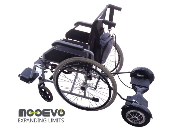 AidWheels by Mooevo HoverPusher para Silla de ruedas plegable | Ortopédica | Manual l Modelo Revolution R1