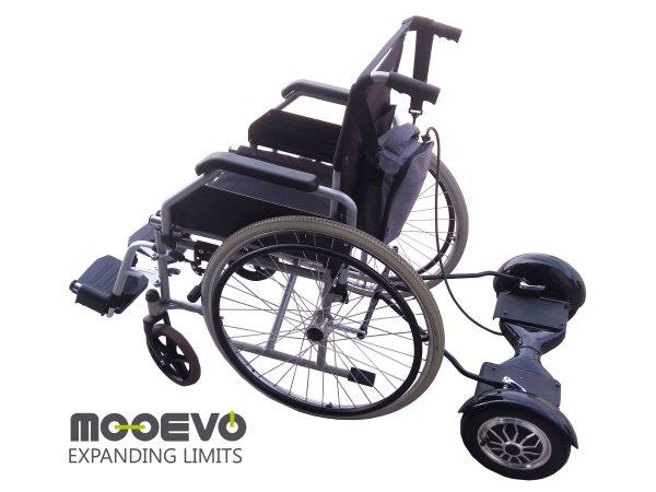 AidWheels by Mooevo HoverPusher para Silla de ruedas Transit plegable de aluminio, con frenos,