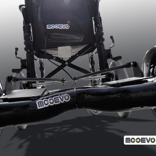 AidWheels by Mooevo HoverPusher para Silla de ruedas Drive Medical BTR22BLK Bariatría