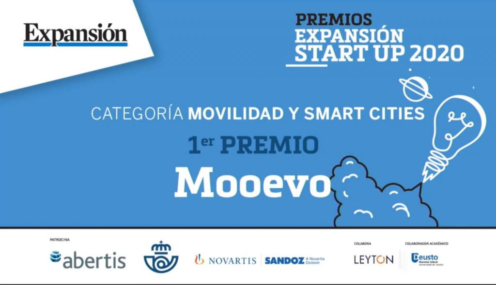 mooevo premio expansion statup 2020 movilidad smartcities