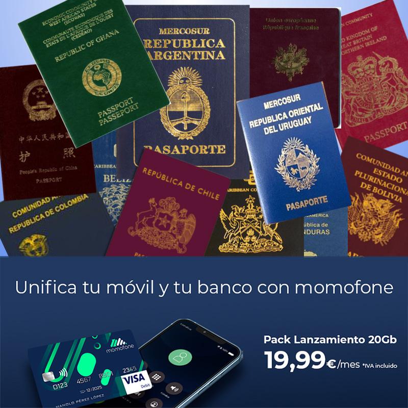 cuenta bancaria española solo con el pasaporte