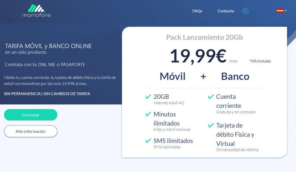 telcobanking momofone tarifa movil banco online