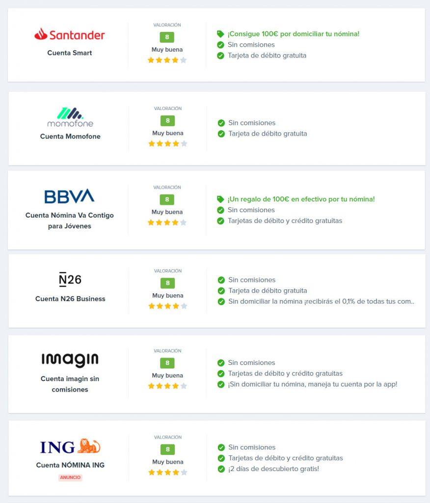 mejores bancos online