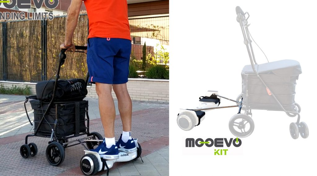 Adaptador de hoverboard AidWheels para carritos Carlett
