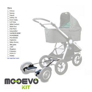 Mooevo Kit Adaptador Hoverboard para Carritos de Bebé