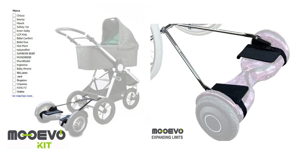 carrito bebe hoverboard electrico