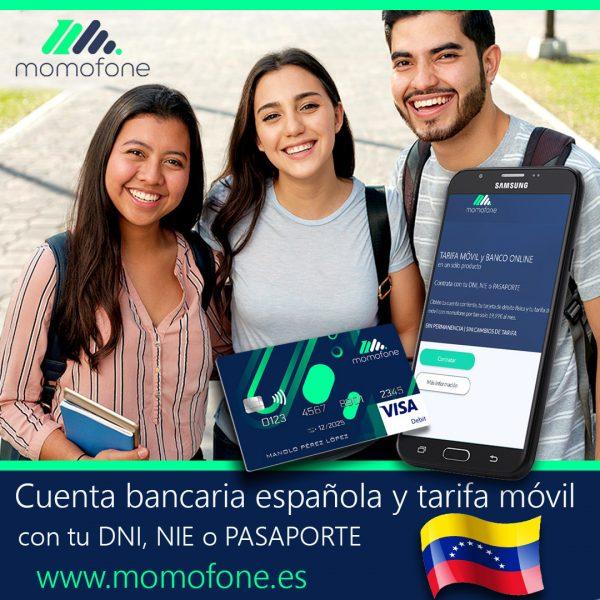 Ver cuenta bancaria para extranjeros y telefono movil
