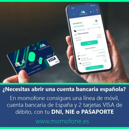 Ver cuenta bancaria sin comisiones sin nomina y telefono movil