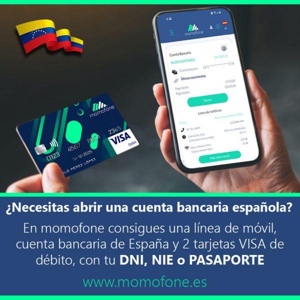 Ver cuenta bancaria sin comision  y telefono movil