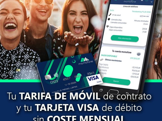 Ver Sin comisiones cuenta bancaria y telefono movil