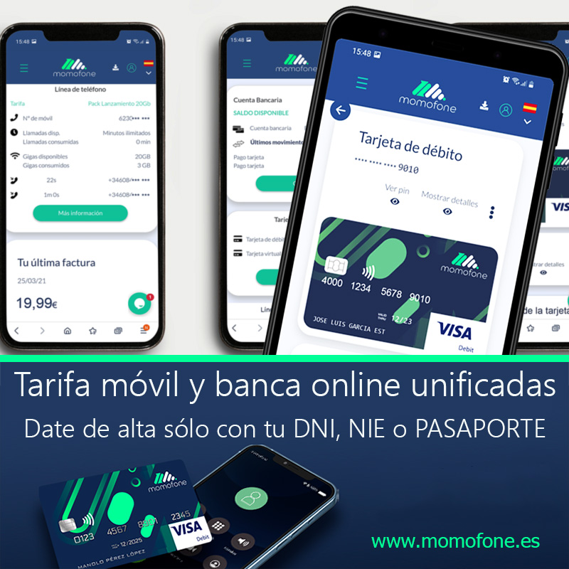 Ver cuenta bancaria viajar y telefonia